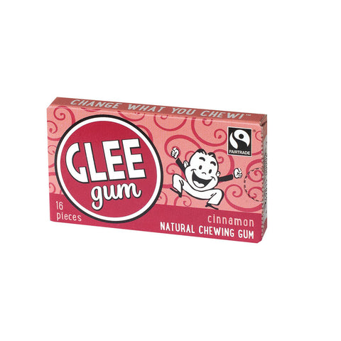 Glee Gum Chewing Gum - Cinnamon - 16 Pieces - Case Of 14