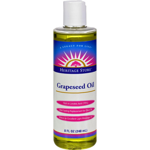 Heritage Products Grapeseed Oil - 8 Fl Oz