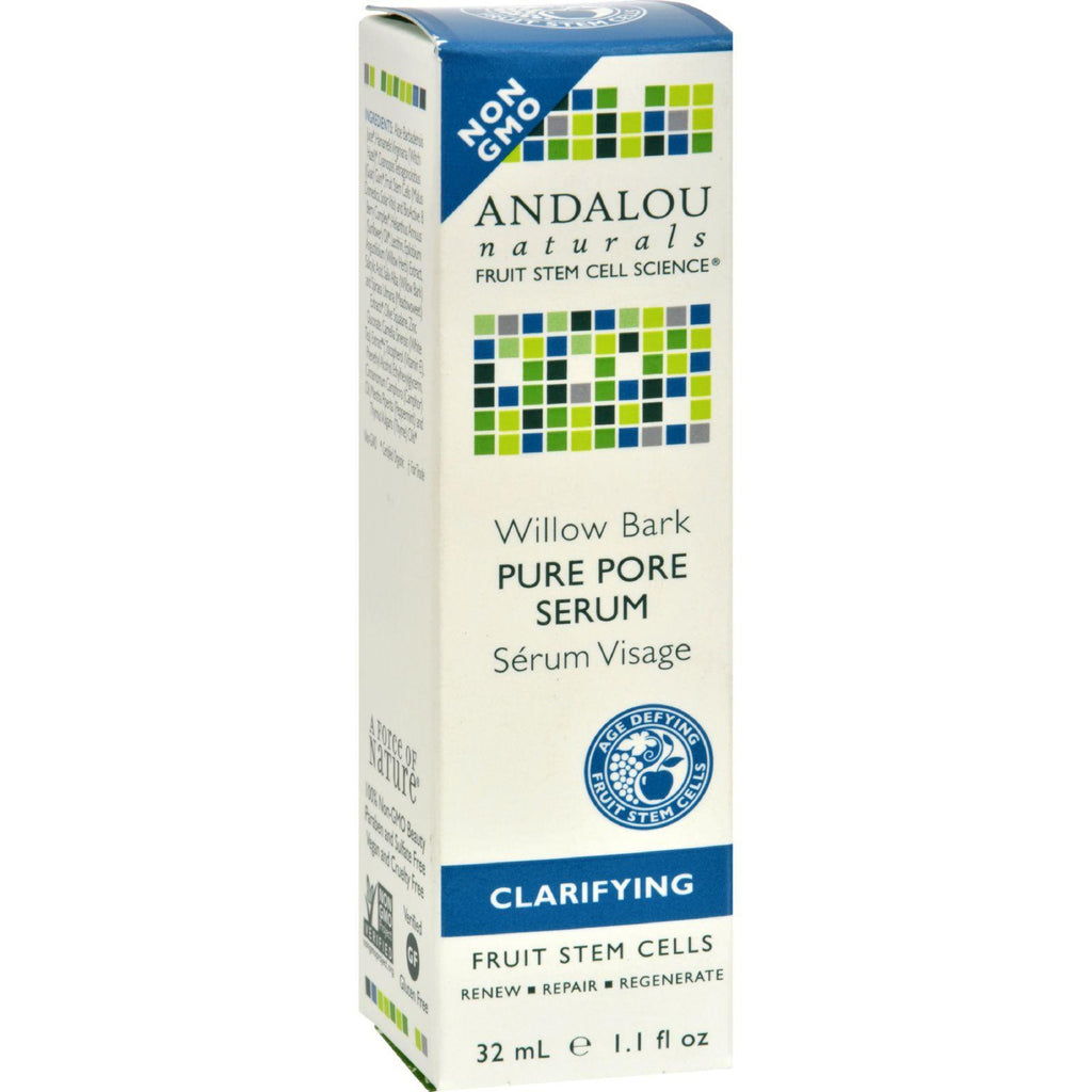 Andalou Naturals Clarifying Willow Bark Pure Pore Serum - 11 Fl Oz