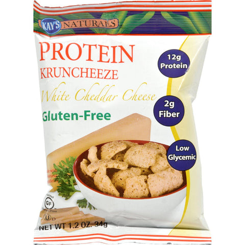 Kay's Naturals Better Balance Kruncheeze White Cheddar Cheese - 1.2 Oz - Case Of 6
