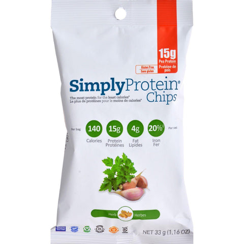 Simplyprotein Chips - Herb - Pack Of 12 - 33 Grams