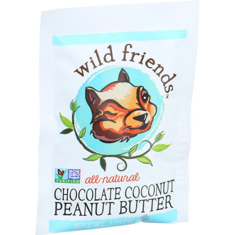 Wild Friendsall Natural Peanut Butter - Chocolate Coconut - 1.15 Oz - Case Of 10