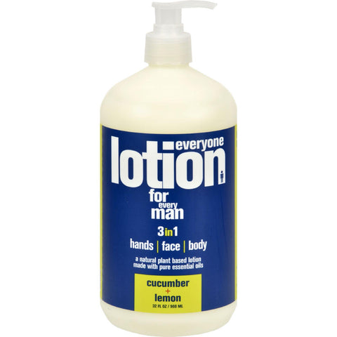 Eo Products Everyone Lotion - Men Cucumber And Lemon - 32 Oz
