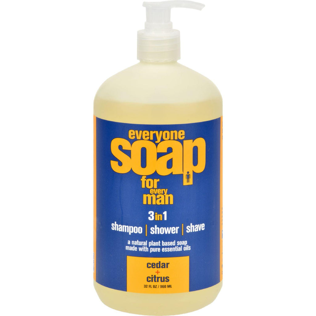 Eo Products Everyone Soap - Men Cedar And Citrus - 32 Oz