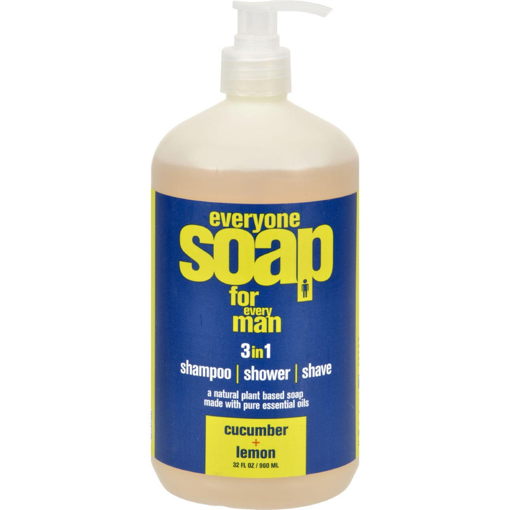 Eo Products Everyone Soap - Men Cucumber And Lemon - 32 Oz