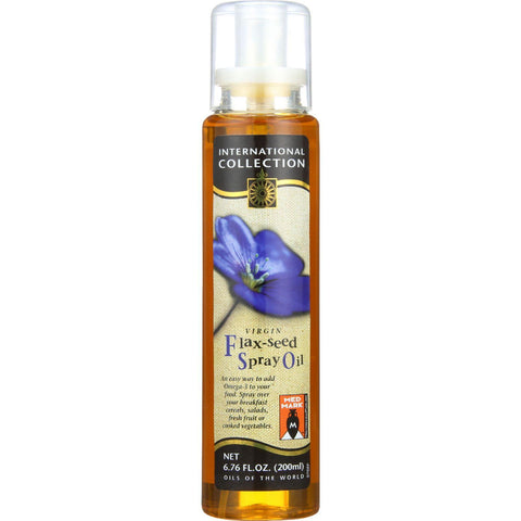 International Collection Spray Oil - Flax-seed - 6.76 Oz - Case Of 6