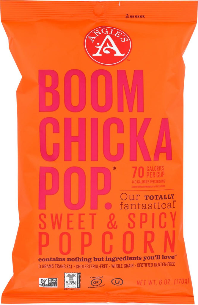 Angie's Kettle Corn Boom Chicka Pop Sweet And Spicy Popcorn - Case Of 12 - 6 Oz.