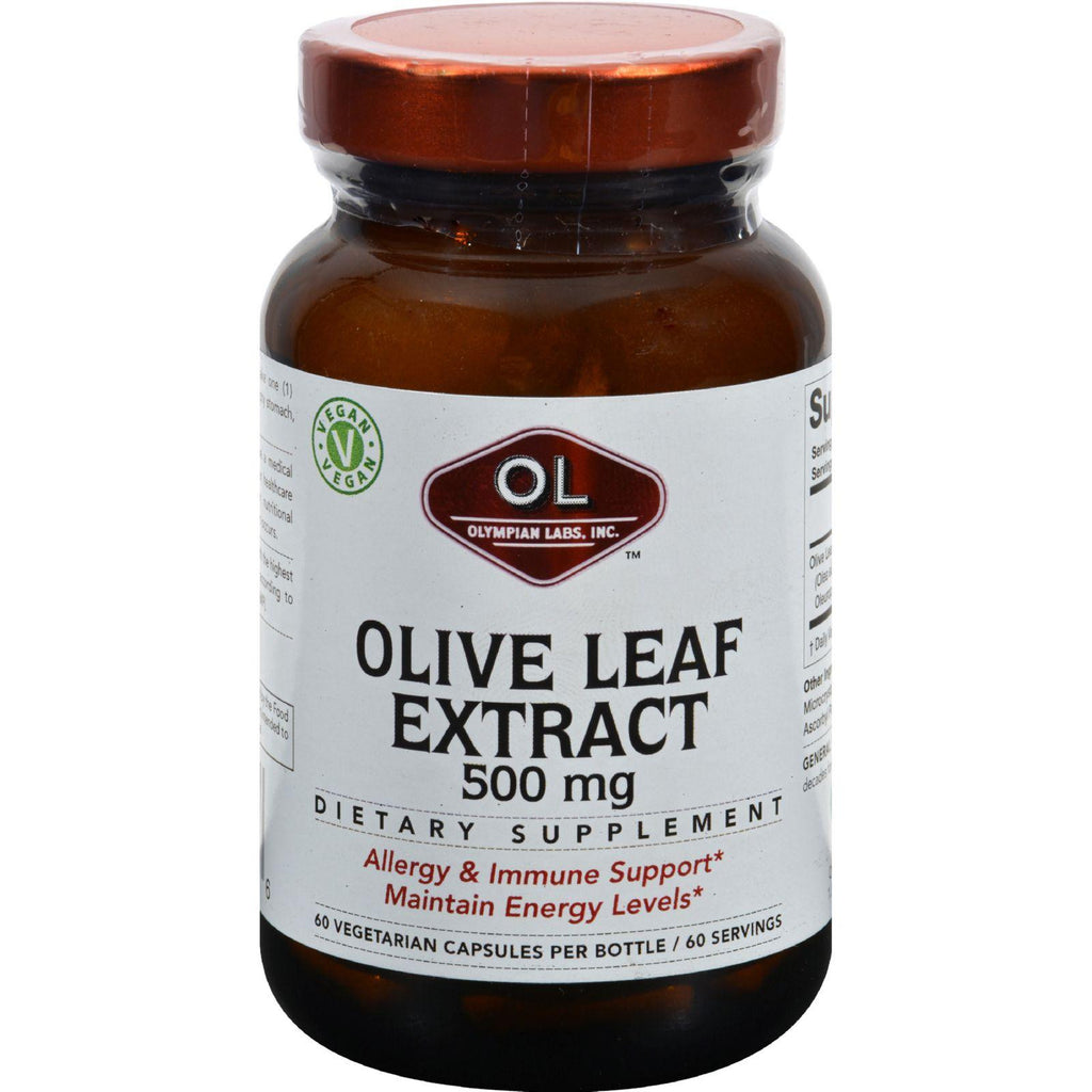 Olympian Labs Olive Leaf Extract - 500 Mg - 60 Capsules
