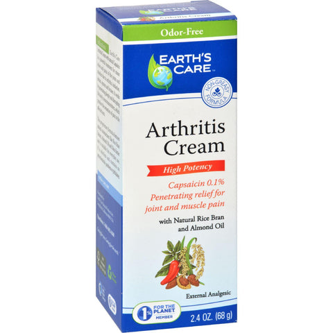 Earth's Care Arthritis Cream - 2.4 Oz