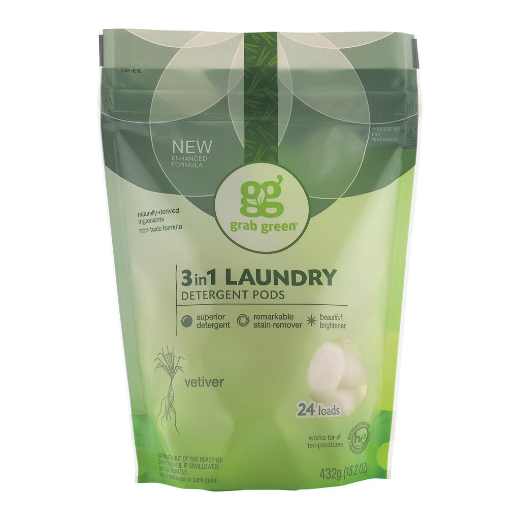 Grab Green Laundry Detergent - Vetiver - Case Of 6 - 24 Count