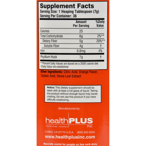 Health Plus Every Day Fiber - Orange - 9 Oz