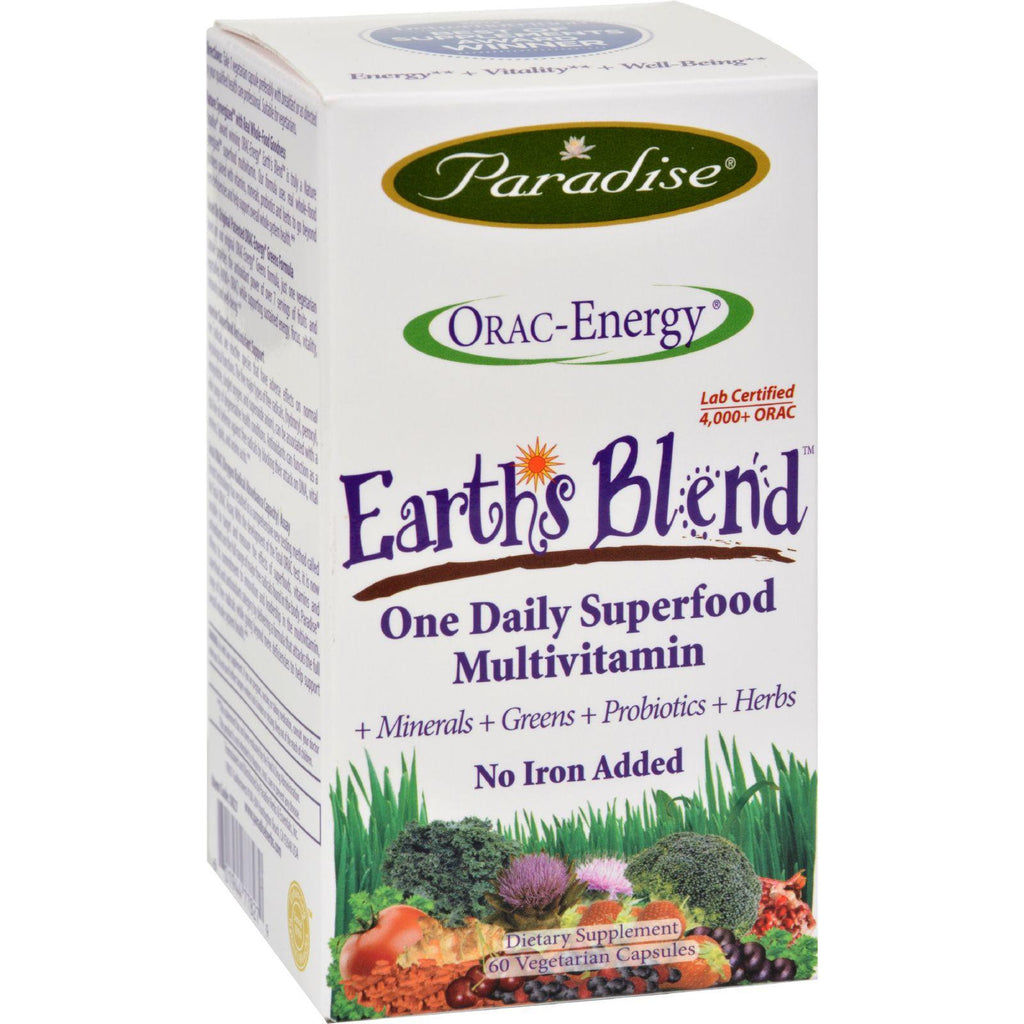 Paradise Herbs Orac-energy Multi Without Iron - 60 Vcaps