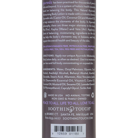 Soothing Touch Body Lotion - Ayurveda - Lavender Lace - 8 Oz