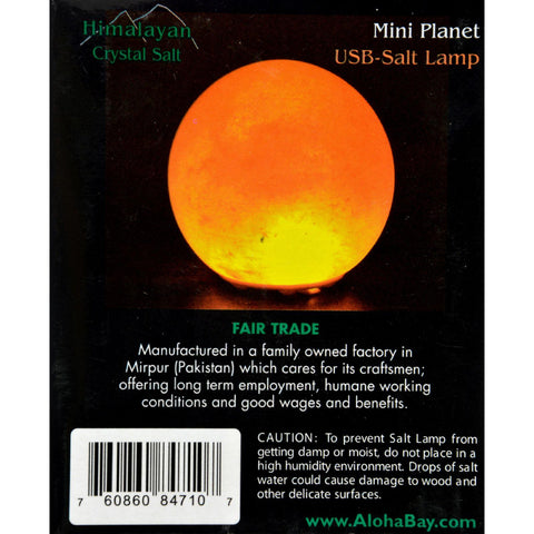 Himalayan Salt Mini Planet Salt Lamp - Usb - 3 In