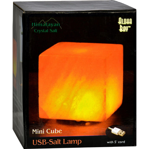 Himalayan Salt Cube Salt Lamp - Usb - 3 In