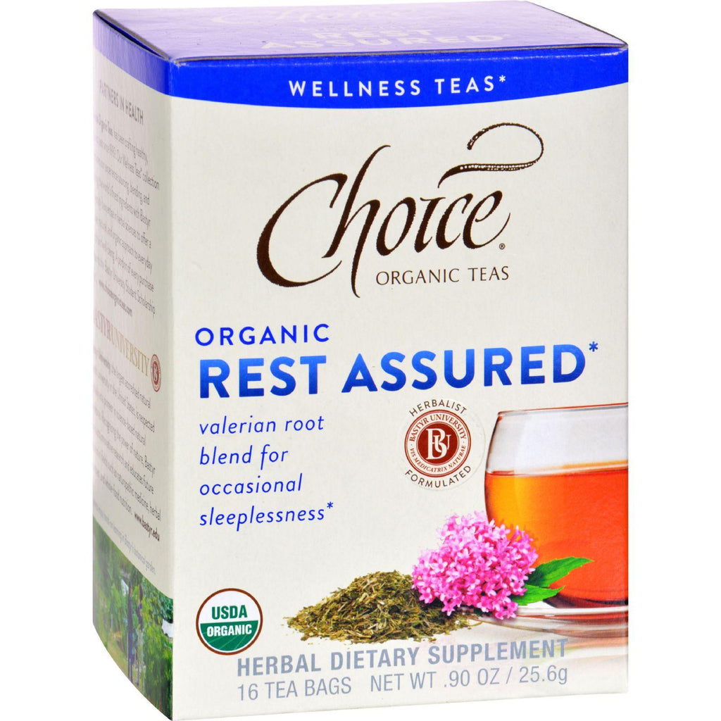 Choice Organic Teas - Organic Rest Assured Tea - 16 Bags - Case Of 6