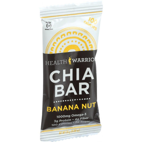 Health Warrior Chia Bar - Banana Nut - .88 Oz Bars - Case Of 15