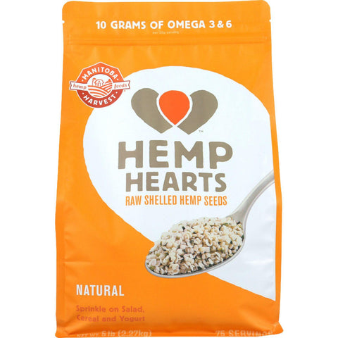 Manitoba Harvest Hemp Hearts - Shelled - 5 Lb - 1 Each
