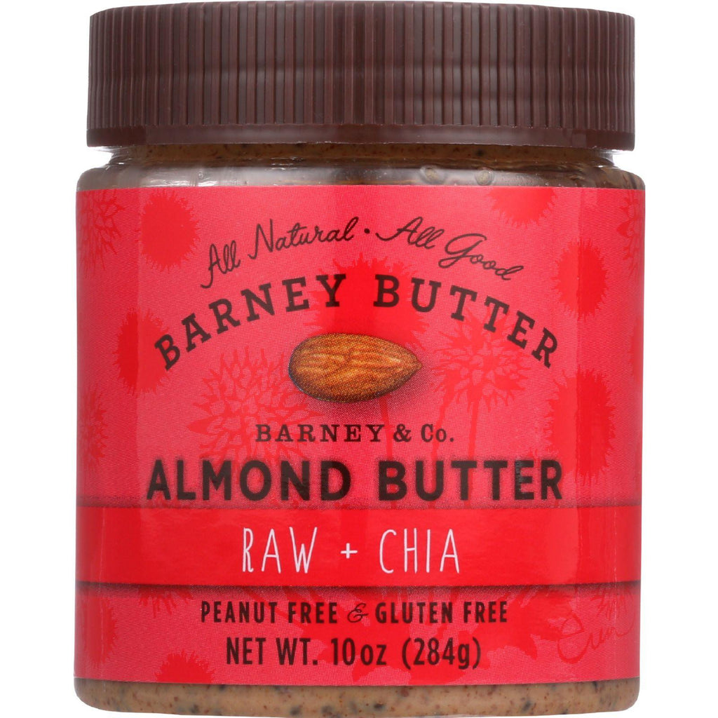 Barney Butter Almond Butter - Raw And Chia - 10 Oz - Case Of 6