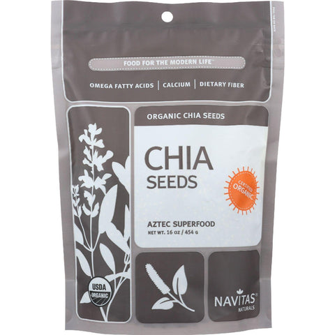 Navitas Naturals Chia Seeds - Organic - Raw - 16 Oz - Case Of 6