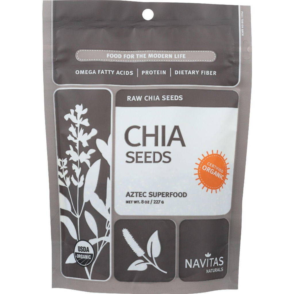 Navitas Naturals Chia Seeds - Organic - Raw - 8 Oz - Case Of 12