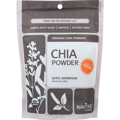 Navitas Naturals Chia Seed Powder - Organic - 8 Oz - Case Of 12