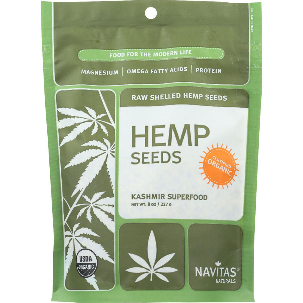 Navitas Naturals Hemp Seeds - Organic - Shelled - 8 Oz - Case Of 12