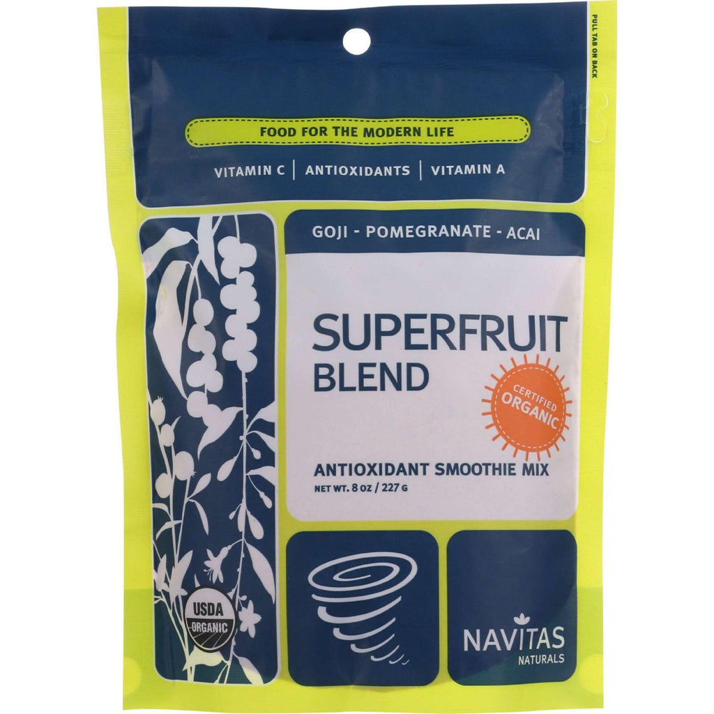 Navitas Naturals Smoothie Blend - Organic - Superfruit Mix -antioxidant - 8 Oz - Case Of 6