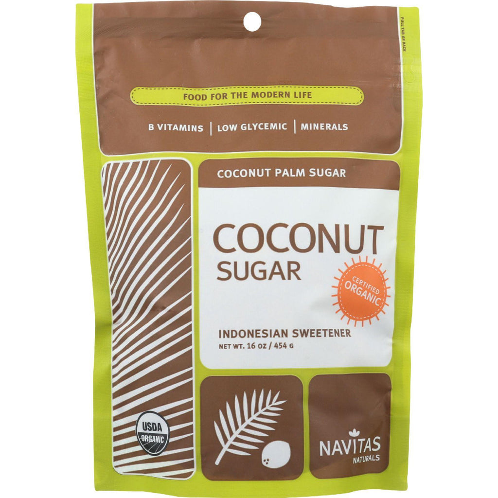 Navitas Naturals Coconut Palm Sugar - Organic - 16 Oz - Case Of 6
