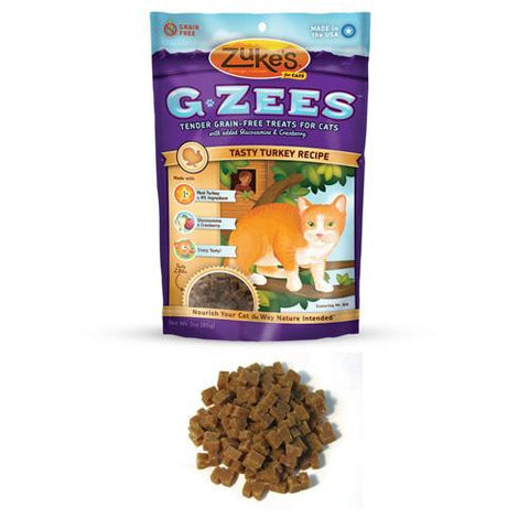 Zuke's Cat Treats - G Zees Turkey Grain Free - 3 Oz - Case Of 12