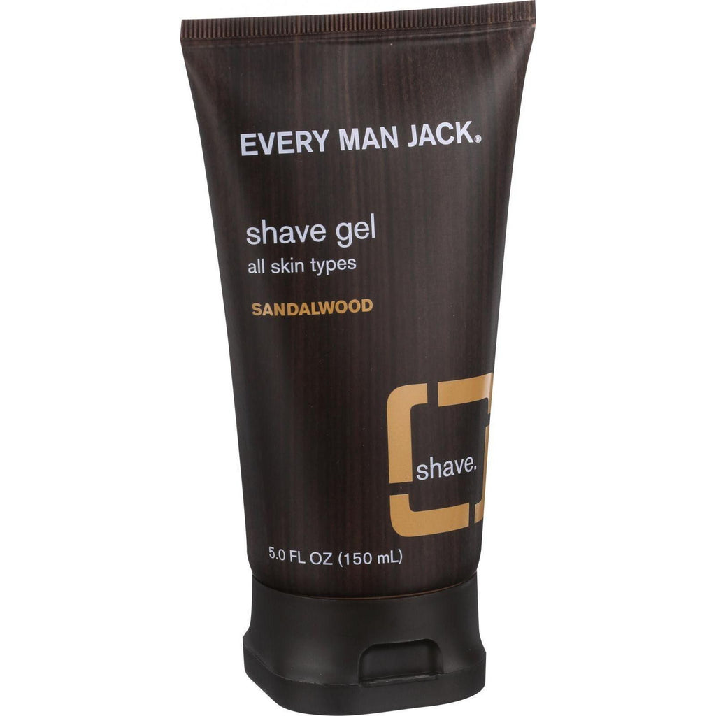 Every Man Jack Shave Gel - All Skin Types - Sandalwood - 5 Oz
