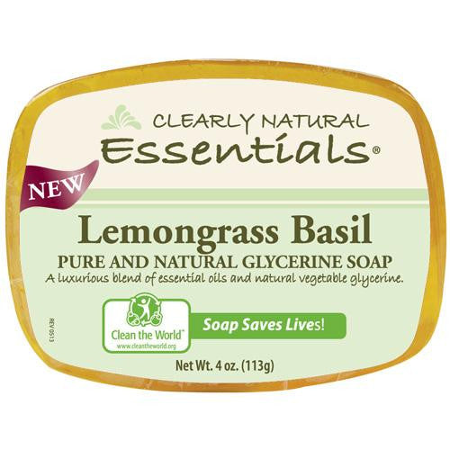 Clearly Natural Glycerin Bar Soap - Lemongrass Basil - 4 Oz