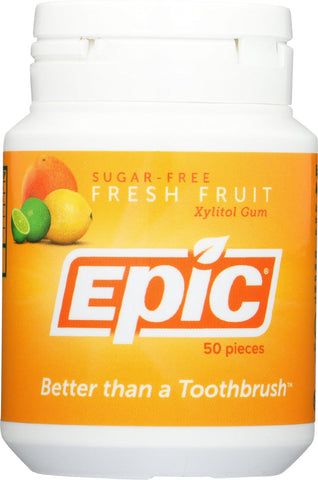 Epic Dental Xylitol Gum - Fresh Fruit - 50 Pieces