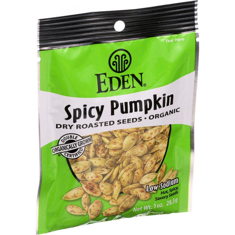 Eden Foods Organic Pumpkin Seeds - Dry Roasted - Spicy - 1 Oz - Case Of 12