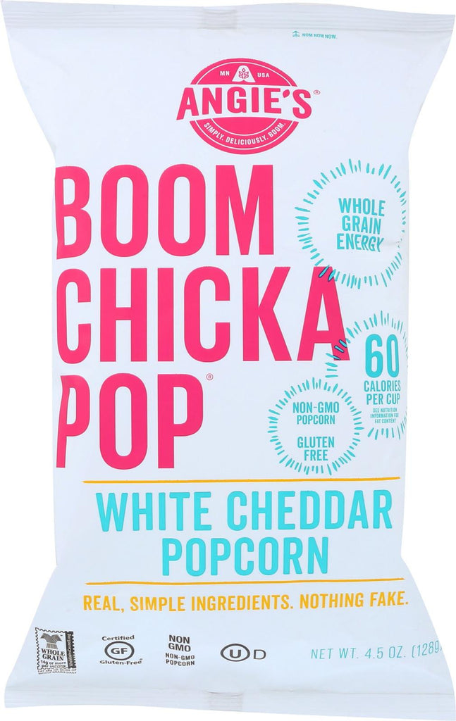 Angie's Kettle Corn Boom Chicka Pop White Cheddar Popcorn - Case Of 12 - 4.5 Oz.