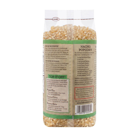 Bob's Red Mill Whole White Popcorn - 27 Oz - Case Of 4