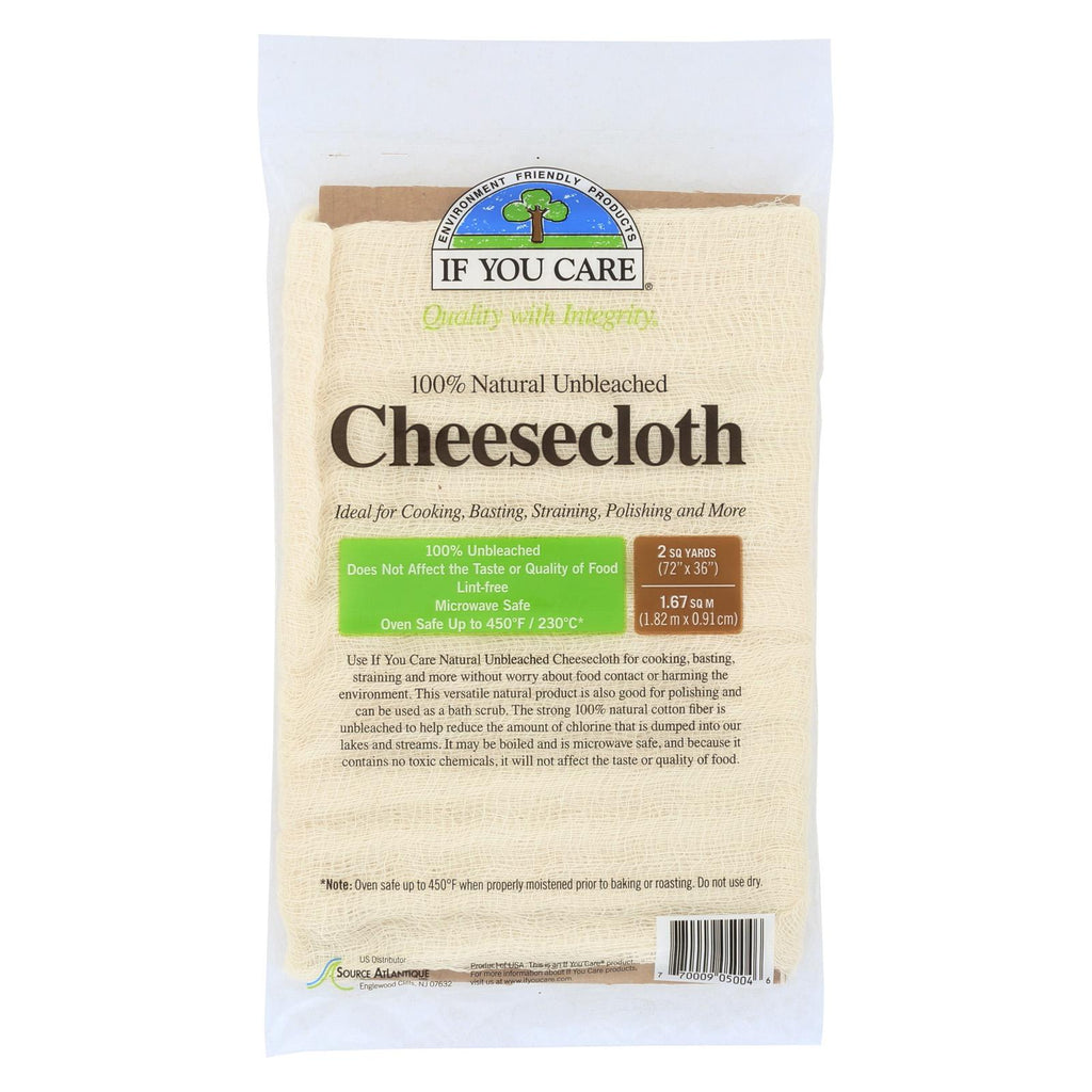 If You Care Cheesecloth - Unbleached - Case Of 24 - 2 Yard
