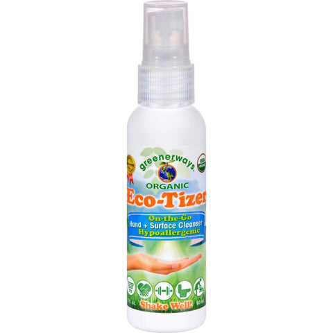 Greenerways Organic Eco Tizer Counter Display - 2 Oz - Case Of 12