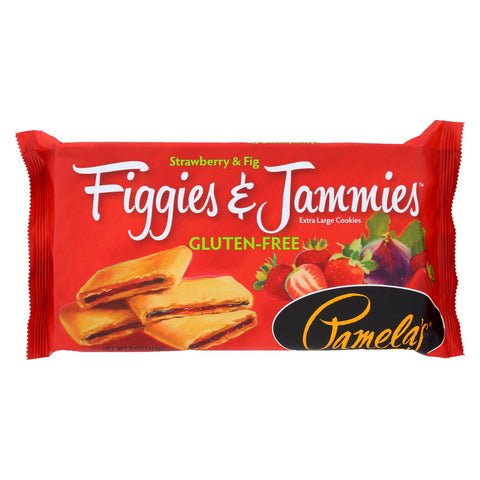 Pamela's Products Figgies And Jammies - Strawberry - Case Of 6 - 9 Oz.