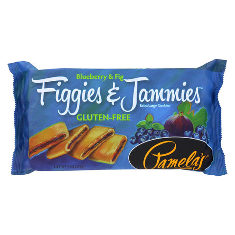 Pamela's Products Figgies And Jammies Cookies - Blueberry And Fig - Case Of 6 - 9 Oz.