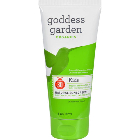 Goddess Garden Organic Sunscreen - Kids Natural Spf 30 Lotion - 6 Oz