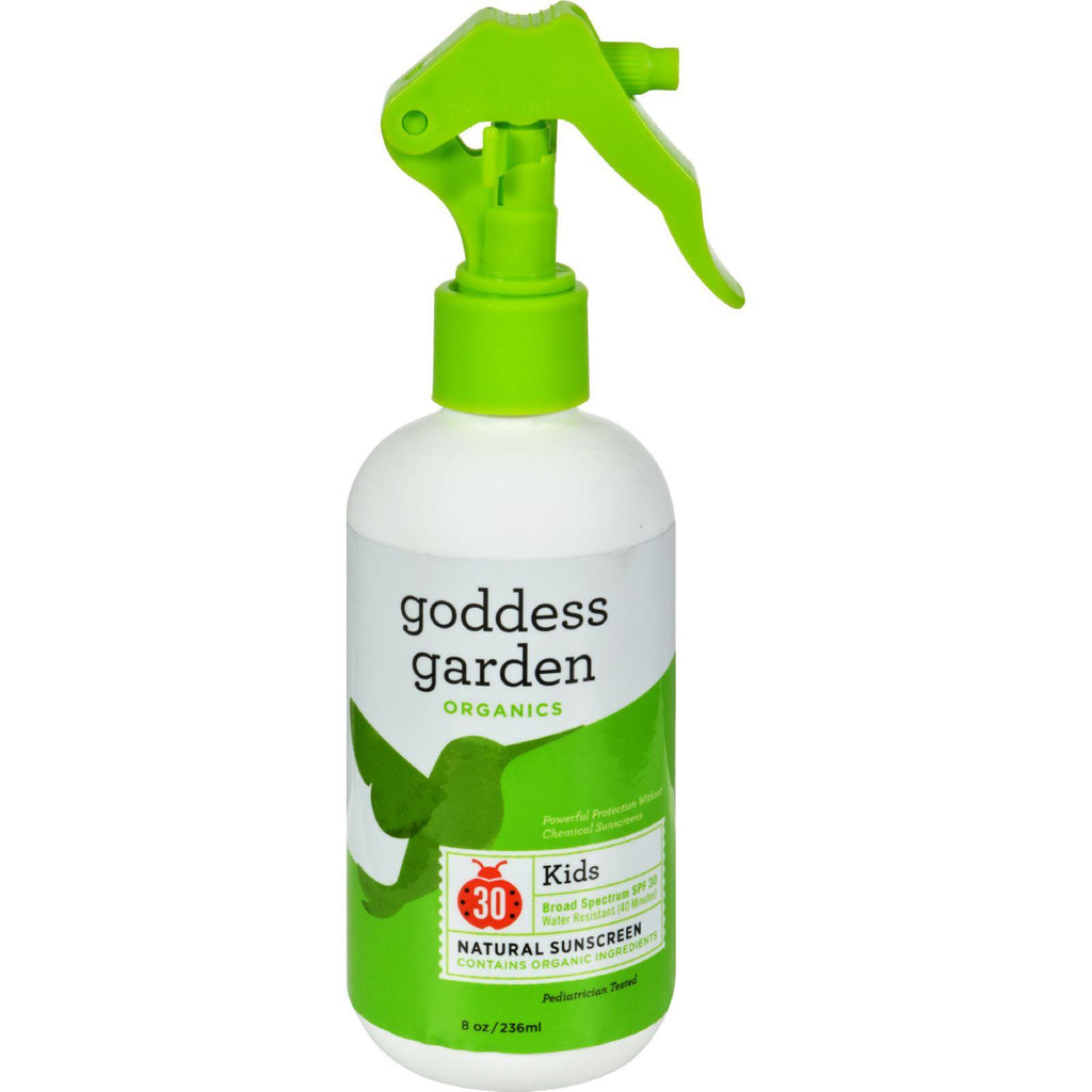 Goddess Garden Organic Sunscreen - Kids Natural Spf 30 Trigger Spray - 8 Oz