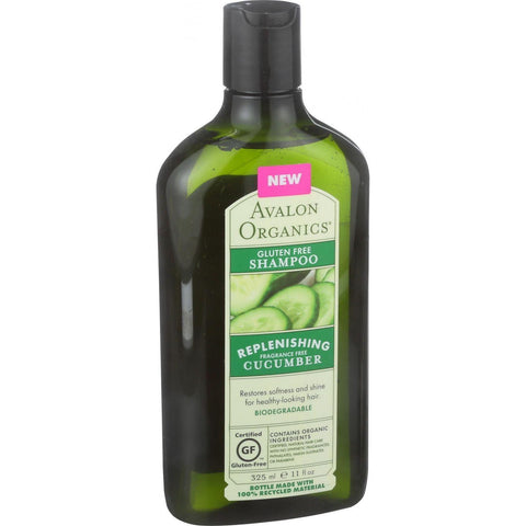 Avalon Organics Shampoo - Gluten Free Cucumber Replenishing - 11 Oz