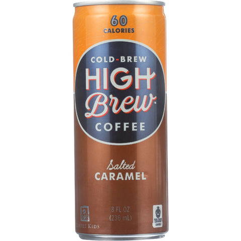 High Brew Coffee Coffee - Ready To Drink - Salted Caramel - 8 Oz - Case Of 12