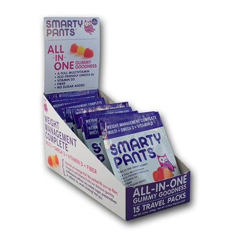 Smartypants Multivitamin - Complete - Fiber - Gummy - Adlt - Case Of 15 - Travel Pack