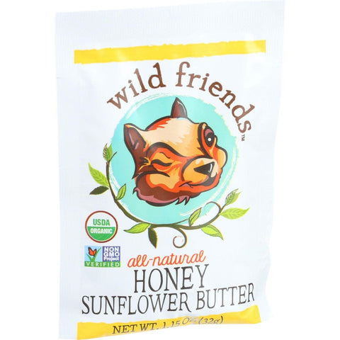Wild Friends Organic Sunflower Butter - Honey - 1.15 Oz - Case Of 10