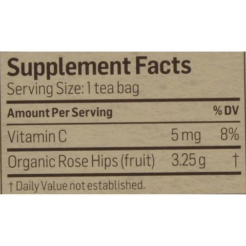 Alvita Tea - Organic - Rose Hips Herbal - 24 Tea Bags