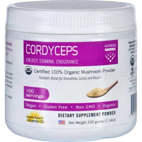 Mushroom Matrix Cordyceps Militaris - Organic - Powder - 7.14 Oz