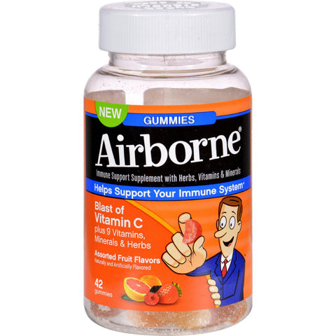Airborne Vitamin C Gummies For Adults - Assorted Fruit Flavors - 42 Count