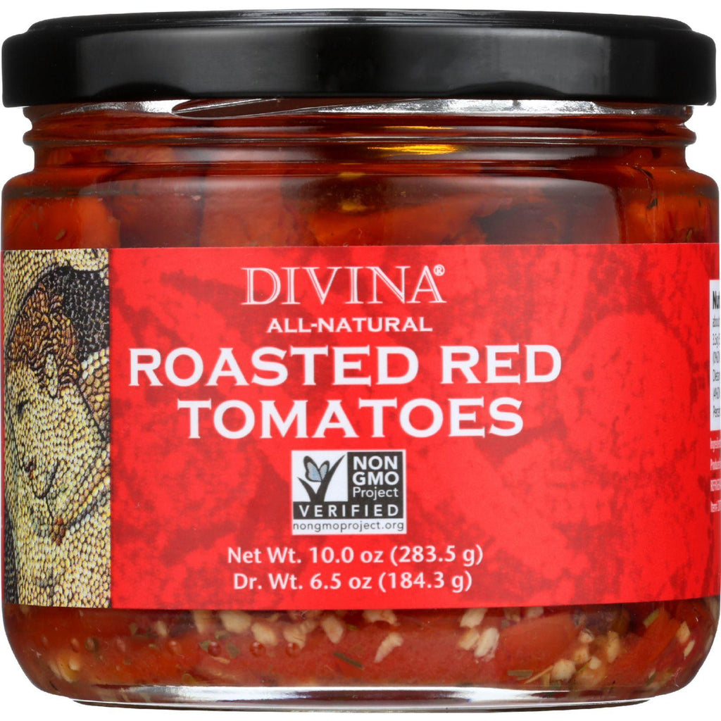 Divina Tomatoes - Roasted Red - Oil And Herbs - 10 Oz - Case Of 6